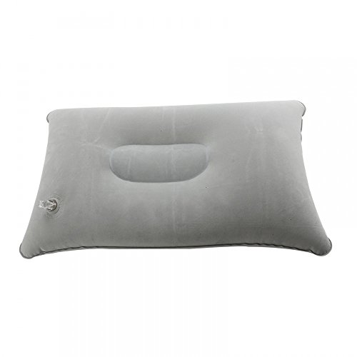Mosuch Super Thick Flocking Fabric Inflatable Pillow Portable Travel Pillow Grey