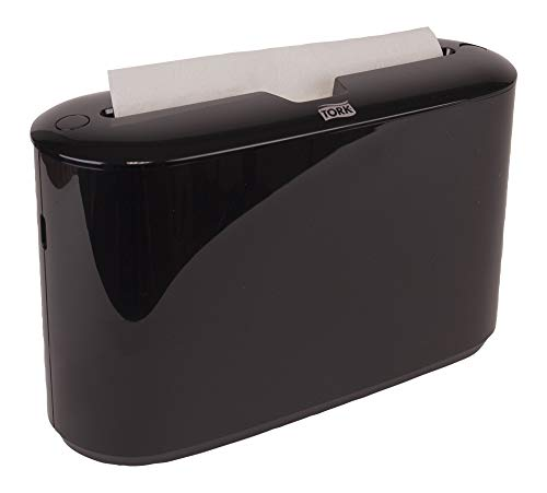 Tork Xpress 302028 Countertop Multifold Hand Towel Dispenser, Plastic, 7.92'' Height x 12.68'' Width x 4.56'' Depth, Black (Case of 1) For use with Tork MB550A, MB640, MB540A by Tork (Image #1)