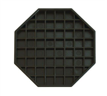 Octagon Drip Tray, 6''X6'', Black (12 ()