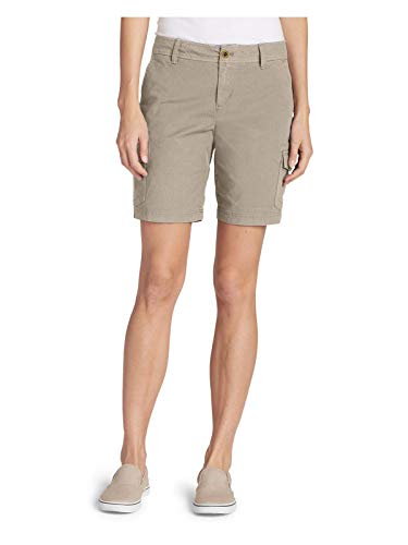 (Eddie Bauer Women's Adventurer Stretch Ripstop Cargo Shorts - Slightly Curvy, Pu)