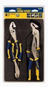 IRWIN Tools VISE-GRIP Pliers Set, 4-Piece Traditional (2078707) 4 Piece Vise Grip Plier