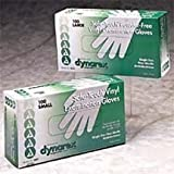 Vinyl Exam Gloves- Large (Box of 100) Lightly Powdered by Physician Supplies