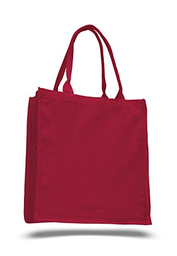 Pack of 6 - Cottom Canvas Fancy Shopper Tote Bag - Size 15