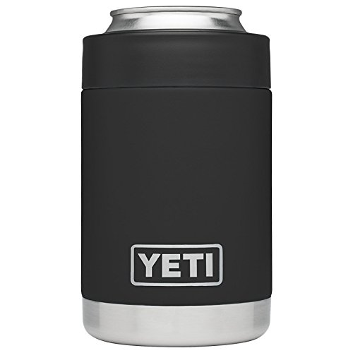 YETI Rambler Vacuum Insulated Stainless Steel Colster, Black DuraCoat (Best Beer In Hawaii)