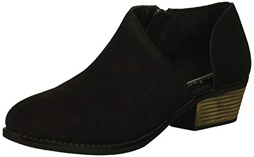 - Skechers Women's Lasso-VACINITY-Short Asymmetrical Bootie Ankle Boot, Black, 7 M US