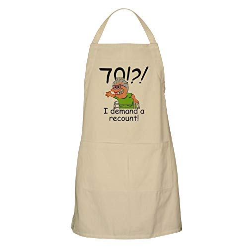 CafePress Recount 70Th Birthday Funny Old Lady Apron Kitchen Apron with Pockets, Grilling Apron, Baking Apron