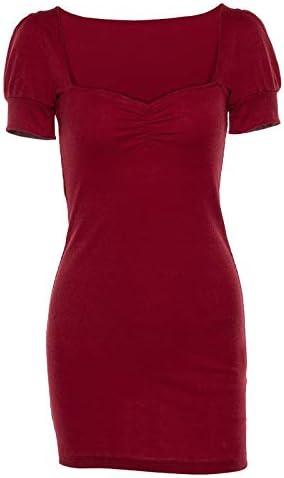 El nuevo 2019 comercio europeo y americano AliExpress modelos de explosión de primavera de la linterna Puff cuello cuadrado paquete de cadera era vestido delgado femenino (color: rojo, tamaño: S): Amazon.es: Electrónica