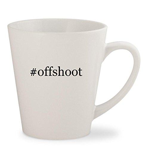 #offshoot - White Hashtag 12oz Ceramic Latte Mug - White Shaun Offshoot