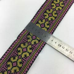- Lace Crafts - Cross Stitch Embroidery Fabric lace 7cm Sewing Trim Ribbon Tape Webbing Boho Tribal Ethnic Gypsy Cloth Bag Native Deco DIY - (Color: Pink as Photo)