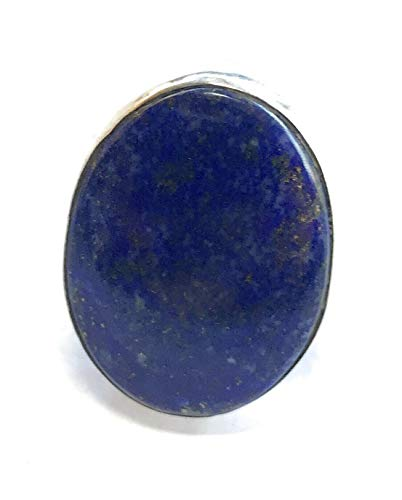 Navajo Lapis Sterling Silver Ring Sz 6 Stamped from Nizhoni Traders LLC