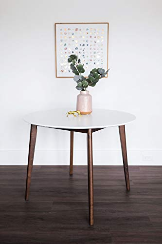 Edloe Finch Dakota Mid-Century Modern 5 Piece Round Dining Table Set for 4, White Top by Edloe Finch (Image #4)