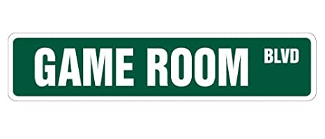GAME ROOM Street Sign pinball foosball air hockey pool | Indoor/Outdoor |  18 Wide SignMission