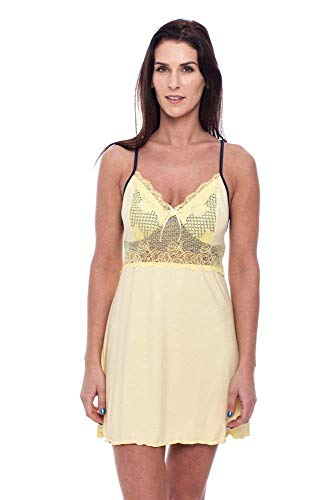 Flos Veris Women's Nightgown with a Ribbon Ladies Nightdress S M L size chemise Made in Europe by Flos veris