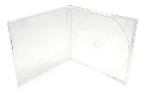 Mediaxpo Brand 50 STANDARD Clear Single VCD PP Poly Cases (Single Vcd Pp Poly Cd)
