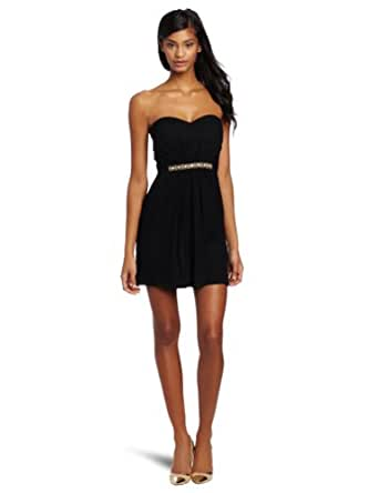 Twelfth Street by Cynthia Vincent Women's Party Dress With Embellished Waist, Black, Petite