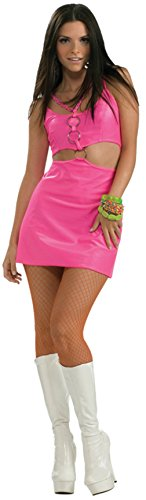 Cheap Hippie Costumes (Rubies Womens Retro Molly Go Brightly Hippie Disco Pink Theme Party Costume, Standard (8-12))