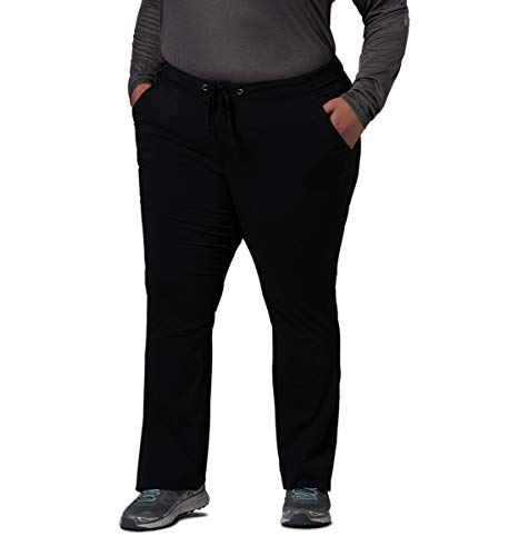 (Columbia Women's Anytime Outdoor Plus Size Boot Cut Pant, Black, 18W Regular)