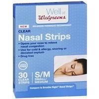 Walgreens Nasal Strips, Clear, Small/Medium 30 ea by Walgreens