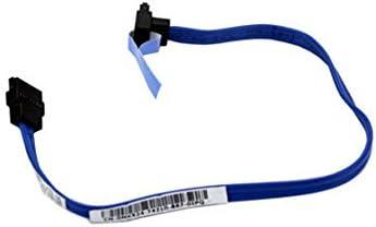 """MK524 Genuine Dell Blue 11/"""" SATA Hard Drive Data Cable Right Angle LOT OF 2"""