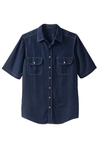 Boulder Creek Men's Big & Tall Short-Sleeve Renegade Shirt, Indigo Denim Big-6XL ()