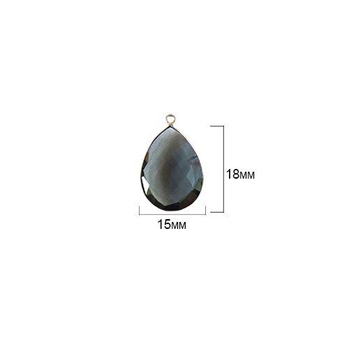 (2 Pcs London Blue Topaz Pear 15X18mm by BESTINBEADS I London Blue Topaz Stone I 2 Pcs London Blue Topaz Pear Pendant I Pear Pendant Silver I Pear Bezel)