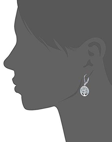 925 Sterling Silver Cubic Zirconia Family Tree of Life Drop & Dangle Leverback Earrings by JO WISDOM (Image #4)
