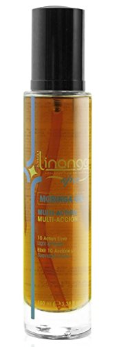 Linange Spa –Multi-action Hair Elixir Drops (100ml) with Moringa and Macadamia Oils; Hydrating, Revitalizing Hair Care Product; Hair Elixir for Men and Women – Great for Dry, Frizzy, Dull Hair by LINANGE (Image #1)