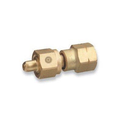 Western Enterprises 808 Brass Cylinder Adaptors, From CGA-350 Hydrogen to CGA-580 Nitrogen 312-808