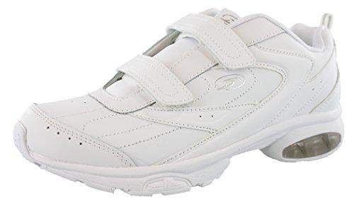 Dr.Scholls Women's Omega Light Weight Dual Strap Closure Sneaker wide width (10 Wide US, White)