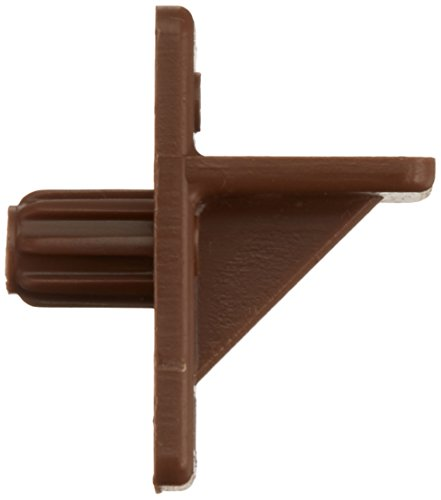 Slide-Co 242154 Shelf Support Peg, 1/4-Inch, Brown Plastic,(Pack of 12) (Supports Shelf Cabinet)
