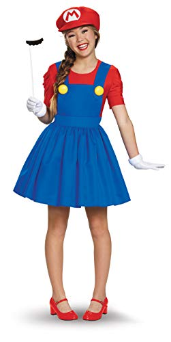 Cheap Costumes For Tweens (Disguise Women's Mario Skirt Version Adult Costume, Multi,)