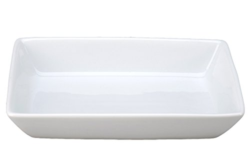 Vertex China ARG-R6D Signature Rectangle Dish Deep, 6'' x 4'', Porcelain White (Pack of 36) by Vertex China