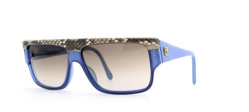 Emmanuelle Khanh 10640 85 PT Blue Authentic Men - Women Vintage Sunglasses (Khanh Emmanuelle)