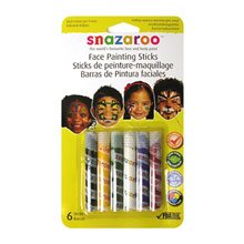 Reeves Face Painting Sticks - 6 Per Package in Green, White, Red, Yellow, Blue, Black
