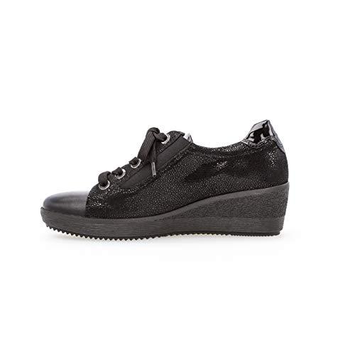 Gabor de Zapatos Lisa de para Negro Piel Cordones Mujer rSrqdw