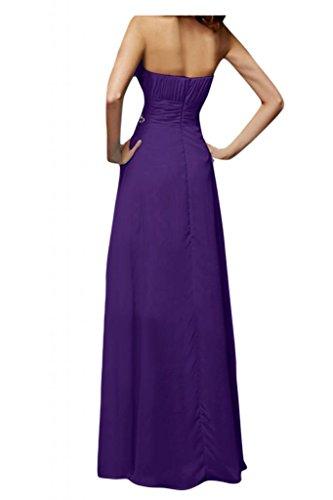 Toscana sposa Modern a forma di cuore moda donna Chiffon vestiti dal giovane sposa per una serata Party Ball Bete vestimento viola 46
