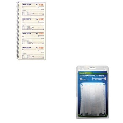 KITABFSC1152MNK925045 - Value Kit - Monarch Marking Tagger Tail Fasteners (MNK925045) and CARDINAL BRANDS INC. Two-Part Rent Receipt Book (Monarch Marking Tagger Fasteners)