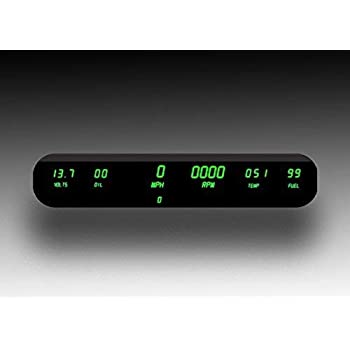 intellitronix corp  digital 6 gauge dash panel kit (universal) in green!