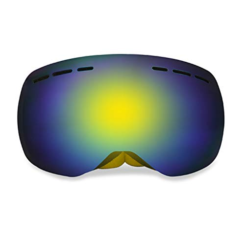 G4Free Ski Snowboard Snow Goggles for Men Women Anti-Fog 100% UV400 Protection Over Glasses Goggles Frameless Spherical Design Detachable Lens System