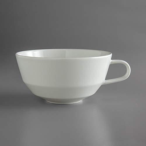 Schonwald 9125187 Allure 12.75 oz. Bone White Porcelain Cafe Au Lait Low Cup - 12/Case
