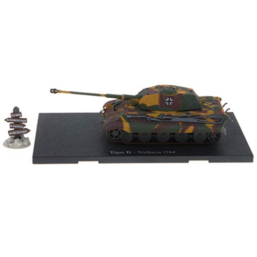 Flameer 1:72 Scale Alloy WWII German Tiger II-Wallonia 1944 Tank Destroyer Army Vehicles Model Toy Showcase Display