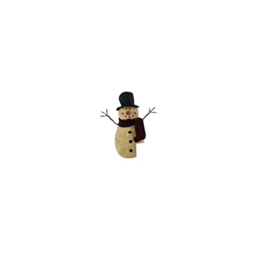 Craft Outlet Paper Mache Top Hat Snowman, 6 by 3.5 by 6