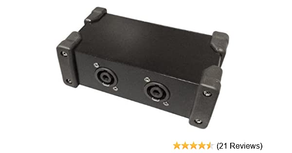 Stellar Labs NL4-SPLIT Speakon® Splitter Box One NL4MP Input to Two NL4MP