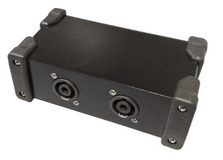 Stellar Labs NL4-SPLIT Speakon Splitter Box - One NL4MP Input to Two NL4MP Outputs