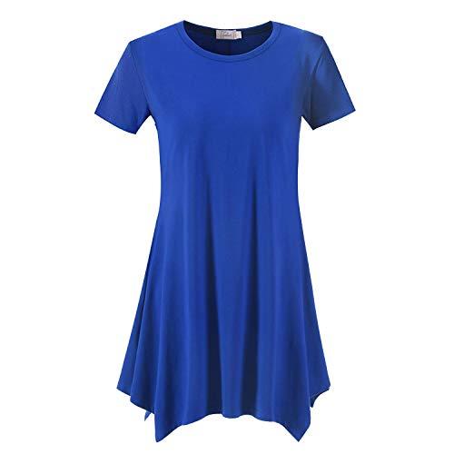 d830211171957 Topdress Women's Loose Fit Swing Shirt Casual Tunic Top Leggings ...