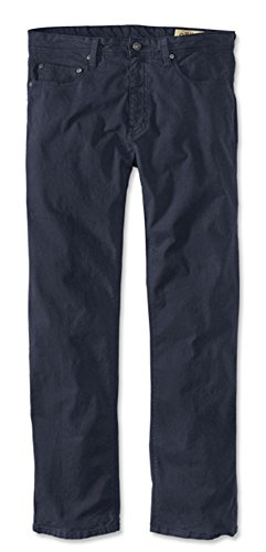Orvis Men's 5-Pocket Stretch Pants, Navy, 36, Inseam: 32 inch (Blended Twill Pants)
