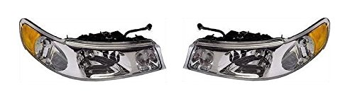 - 98 99 00 01 02 Lincoln Town Car Headlamp Headlight Pair Set Driver and Passenger Towncar