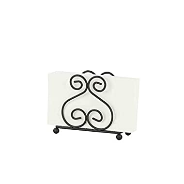 Home Basics Scroll Collection Black Napkin Holder