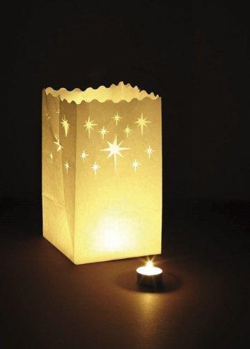 RAYHER 7516500 Luminaria-Lichttüte, Sterne, 26 x 15 x 9 cm, Beutel 10 Stück