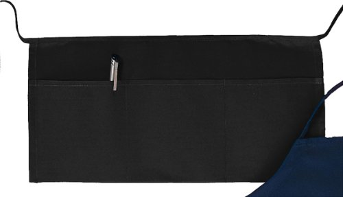 Three Pouch Pocket - Big Accessories Three Pouch Pocket Waist Apron, BLACK, One Size